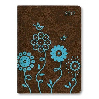 Mini-Buchkalender Style Blue Bird 2017 A6