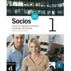Socios 1 Nivel A1/A2. Libro del alumno + CD. (Nueva edición)  Curso básico de español orientado al mundo del trabajo.