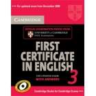 Cambridge First Certificate in English 3 for Updated Exam Student's Book with answers