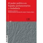 El poder político en España: parlamentarios y ciudadanía