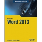 Word 2013. Manual imprescindible