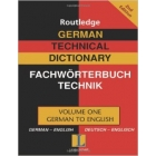 Routledge German technical dictionary : German-English