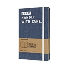 Moleskine* Libreta Denim Large Rayada ?DO NOT HANDLE WITH CARE.?