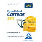 Personal laboral de correos y telegrafos. Temario volumen 1 (Última Edición mayo 2019)