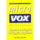 Micro Vox diccionario portugés-español, español-portugés
