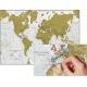 Rasca el Mundo. Mapa mural de rascar en CASTELLANO. 84x59 cm
