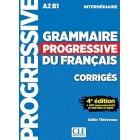 Grammaire progressive du français - Niveau A2-B1 Intermédiaire : Corrigés, + 450 nouveaux tests et activités en ligne
