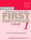 Cambridge Practice Tests for First Certificate 1. Self-Study edition