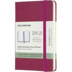 Moleskine* Agenda Semanal 18 meses Pocket (cartoné-rosa)