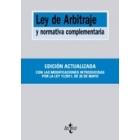 Ley de arbitraje y normativa complementaria