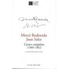 Mercé Rodoreda i Joan Sales. Cartes completes (1960-1983)