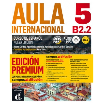 Aula internacional 5 (B2.2) Nueva edición. Libro del alumno + CD MP3 + Acceso Premium a Campus Difusión