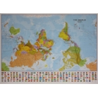 Mapamundi al revés (plastificado) The World