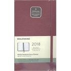 Moleskine* Agenda Semanal-Cuaderno Large (cartoné-rosa)