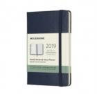 Moleskine* Agenda Semanal 12 meses Pocket (cartoné-azul)