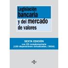 Legislación bancaria y del mercado de valores. Contiene CD