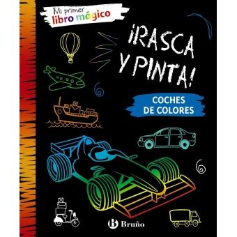 ¡Rasca y Pinta! Mi primer libro mágico. Coches de colores