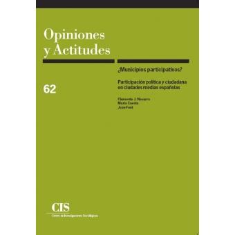 ¿Municipios participativos? Participación política y ciudadana en ciudades medias españolas