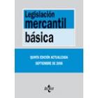Legislación mercantil básica. 8 ed.