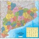 Mapa Mural Catalunya Comarques Plastificat. Escala 1:275.000 (90x100cm)