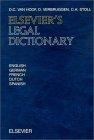 Elsevier's legal dictionary : English-German-French-Dutch-Spanish