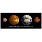 Postal-Planetas Terrestres 3D (26,5x10,5)