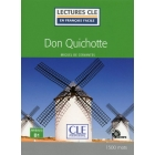 Don Quichotte - Livre + CD MP3 (Lectures clé en français facile)