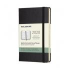 Moleskine* Agenda Semanal 12 meses Horizontal Pocket (cartoné-negra)