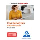 Cos Subaltern de l´administració de la Generalitat de Catalunya. Temari i Test (2019/2020)
