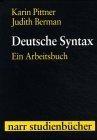 Deutsche Syntax. Ein Arbeitsbuch