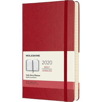 Moleskine* Agenda Diaria 12 meses Large (cartoné-roja)