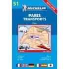 Paris transports/transportes (plano-azul) 51 1/20.000