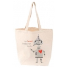 LoveLit My Heart Beats For Books Tote bag