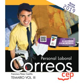Personal laboral correos temario Vol III.Edición Mayo 2019