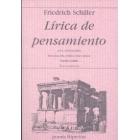 Lírica del pensamiento: una antología (Gedankenlyrik)  Ed. bilingüe