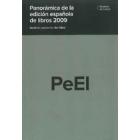Panoramica de la edicion española de libros 2009