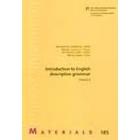 Introduction to English descriptive grammar II