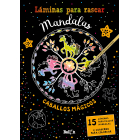 Láminas para rascar Mandalas - Caballos mágicos