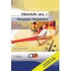 Temari oposicons Vol I. cos de mestres. Pedagogia terapèutica
