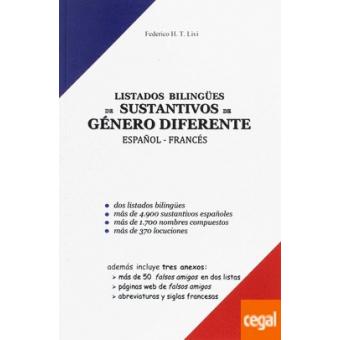 Listados bilingües de sustativos de género diferente español-francés (Nivel A2)