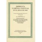 Imprenta y crítica textual en el Siglo de Oro