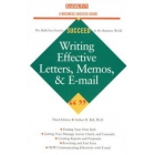 Writing Effective Letters, Memos, and E-mail (Barron's Business Success Guides)3ed