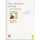 Obra filosófica reunida, vol. I (1867-1893)