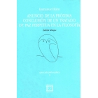 Anuncio de la próxima conclusión de un tratado de paz perpetua en la filosofía (ed. bilingue)