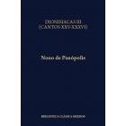 Dionisíacas:  Cantos XXV-XXXVI