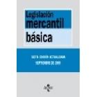 Legislación mercantil básica. 6 ed.