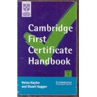 Cambridge First Certificate Handbook Cassettes