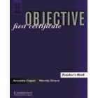 Objective First Certificate. Teacher's book.