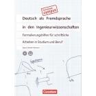 Deutsch als Fremdsprache in den Ingenieurwissenschaften. Formulierungshilfen für schriftliche Arbeiten in Studium und Beruf