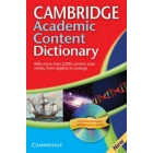Cambridge Academic Content Dictionary with CD-Rom